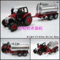 Luxury gift box tractor oil tank truck transport vehicle alloy car model toy