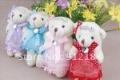 Wedding gift bears,bridal teddy bears ON SALE,4 mixed colors stocking,wedding dress bears