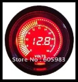 Fast shipping 2.5inch LCD 2colors(red&blue light) gauge,car volts meter LCD6001