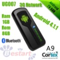 2013 New IPTV, UG007 Dual Core RK3066 1.2 GHZ Android 4.1.1 Jelly Bean RAM 1GB ROM 8GB, TV Box Android Box, support 3G Bluetooth