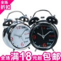 Metal paint alarm clock 3 double bell alarm clock belt light alarm clock 0.2