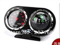 car guid New 2 in1 Stand Car Compass Ball With Thermometer 10pcs/lot Free Shipping