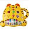 Wholesale Baby Plastic Toy /Children Care Educational Gifts /Tiger Cartoon Electronic Piano /Hotsale