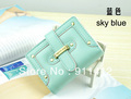 Fashion Korea style purses women PU card bags holders lady wallets short style