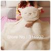 J2 Soft plush dual-use Dolly sheep cushion/air-condition blanket ,plush toy pillow,1pc