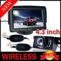 "WIRELESS CAR REAR VIEW KIT 4.3"" LCD MONITOR+IR REVERSING CAMERA 6LED"