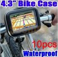 """Waterproof Motorcycle Bicycle Bike Mount Case Bag for 3.5"""" 4.3"""" Garmin TomTom Magellan GPS Free Express 10pcs/lot"""
