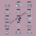 Wholesale Fashion 3D Metal Nail Art Decoration / Cellphone Rhinestone Glitters Decoration, 100pcs/lot + Free Shipping