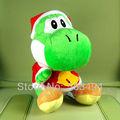 Super Mario Brots YOSHI Xmas Plush Doll Figure Toy 8 inch Christmas yoshi Green Toys 50/LOT