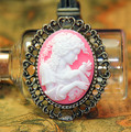New style Free shipment 30*40mm 5 Colors Flatback Resin lady Cameo cabochon for Necklace pendant/decoration Wholesale 50pcs/lot