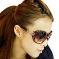 Anti-uv sunglasses female sunglasses Women big box sun glasses myopia 3043