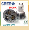 1000X High Power Dimmable GU10 / E27 / E14 / GU5.3 /MR16 3x3W 9W Spotlight Lamp CREE LED 85~265V Light Bulb Downlight