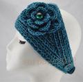 Free Shipping Big Size Flower Crysta Women Lady Headband Crochet Headwrap Knit Hairband