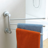 Free shipping 3 layer flexible 180 degree rotating moving Towel rack towel rail towel rod bathroom accessories