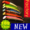 Free shipping, 6pcs/lot, 18g/13cm, Fishing lure set Pencil/Popper/Minnow