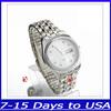 F04431 New Fashion Rhinestone Steel Quartz Watch Wrist Watches for Men Women Lovers + US Free shipping
