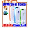 5in1 3G 150M Wireless MiFi WiFi USB Broadband Hotspot Router & 1800mAh Power Charger Free Shipping + Drop Shipping