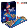 3D puzzle GOLDEN GATE BRIDGE building model educational toy free shipping