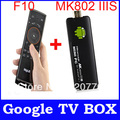 Mele F10 Remote Control+Mk802iis Dual Core Blue tooth MK802 IIIS Mini Pc Support Android Market+HDMI+3D Android 4.1.1 TV Box