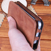 smart designing leather screen cover for iPhone 5s mobile in brown color with hold bank card on line sale free shipping
