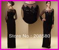 2013 Vintage Long Sleeves Chiffon Beaded Lace Mother of the Bride Dresses Gowns M1320