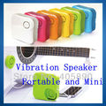 100pcs/lot Free DHL Portable Mini Speaker Musticker Resonance Sound Vibration Speaker System for MP3 PC