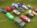 Diy handmade model material alloy military car fire truck sports car 5 boxed 20 piece set
