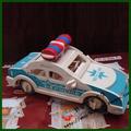 Wool assembling model toy diy gift 3d car model car toy police car