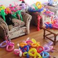 M3 Free Shipping Wholesale 100pcs/lot Mix color Magic Ballons Assorted Latex Long Balloon