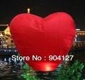 Red Color Wishing Lamp, Heart Shape Sky Lanterns,Sky Chinese Lanterns Birthday Wedding Party,Lamp 10pcs/lot