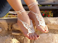 Barefoot sandles, butterfly designs, Wedding beach party crochet sandals, foot jewelry, leg decoration, hippie sandals