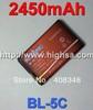 10pcs/lot 2450mAh BL-5C / BL 5C Battery for Nokia 5130 XpressMusic 6230i 1100/1108/1110/1112/1116/1200/1208/1209/1255/1315