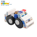 Toy lilliputian wool police car child wooden toy car model