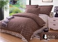 2013 New Design Free Shipping Top Quality Classic Brown Printed 4pcs Bedding Set/ Duvet Cover Bedding Sheet Bedspread Pillowcase