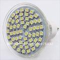 Free Shipping 2pcs New GU 10 LED 3528 60 SMD Pure/ Warm White LED High Power Spot Light 630035