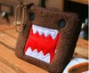 Mini.Order 15$; CUTE Squre DOMO Plush Coin Purse & Wallet Pouch Bag Case; Pendant Chain Purse Bag Case Pouch BAG Wallet Handbag