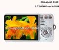 Cheap+gift 2.7inch TFT LCD anti shake 14 mp 5 mp cmos digital camera veview DC-C60,Free shipping