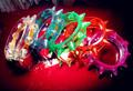 5 pieces/lot LED glowing jelly Punk rock spike bracelet jewelry gothic pyramid stud bangles stretch bracelet