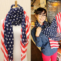 USA Flag Europe & American woman style fashion Trend all-match ladies chiffon scarf
