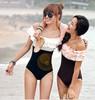 Free Shipping ruffle small push up tube top triangle hot spring female Women swimwear Bikinis set Swimsuit for girl