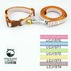 Wholesale &Free shipping! (5 colors) 10pcs/lot Cheap& Classic Pet Dog Stripes Adustable Collar Leash Lead Set 1.5cm