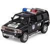 Car toy car WARRIOR alloy car models humvees h3 police car acoustooptical