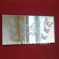 Waterproof butterfly shape acrylic mirror wall sticker/Butterfly Mirrors on Mirror