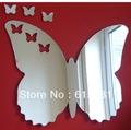 Waterproof butterfly shape acrylic mirror wall sticker/Butterflies out of Butterfly Mirrors