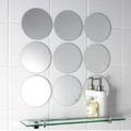 Waterproof circle round shape acrylic mirror wall sticker/Circle Mirror Tiles & Mosaic Mirrored Circle Tiles