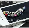 Free shipping Diamond Anti Dust 3.5mm Earphone Jack Plug Stopper for iPhone 4 4S Galaxy #8325