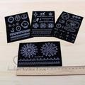 Black mini stereo flock heat transfer printing diy handmade accessories 12* 8cm iron-on heat transfer