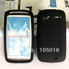 Free shipping 1pcs black silicone GEL Skin Case cover for HTC Sensation G14 Z710e mobile phone