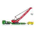 free shipping Flatbed trailer siku belt mining machine work car 1834
