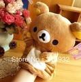 J1 Free Shipping Cute Rilakkuma Bear Plush Hand Puppet toy, Novelty Toy. 2pcs/lot